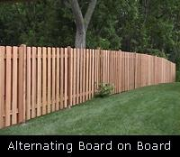 Alternating Board on Board Wood Fence
