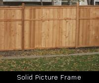 Solid Picture Frame Wood Fence