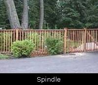 Spindle Wood Fence