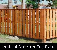Vertical Slat Wood Fence