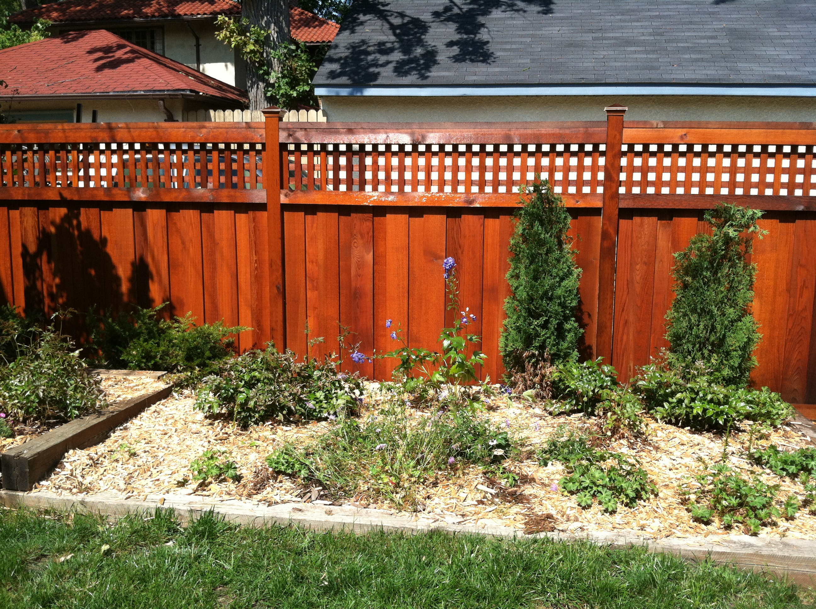 Best stain for wood fence - Cedartone Fence Stain Wood Fence Staining