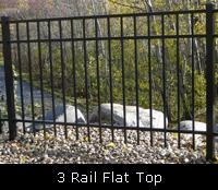 3 Rail Flat Top Ornamental Fence