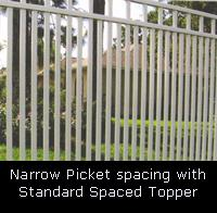 Narrow Picket Space with Topper