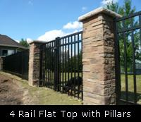 4 Rail Flat Top with Pillars