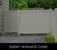 Solid PVC Fence