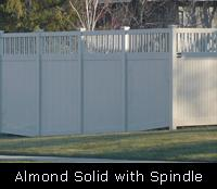 Solid with Spindle Top PVC Fence